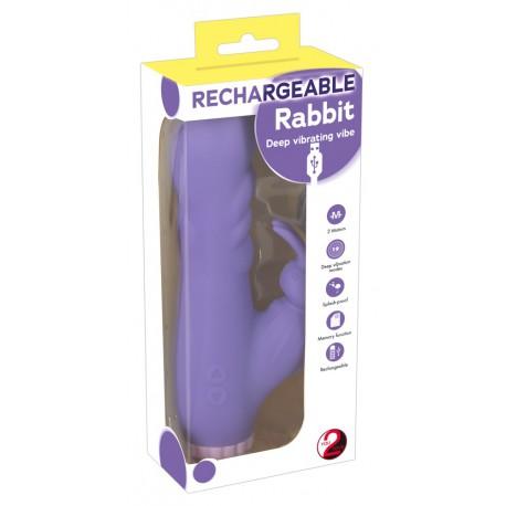 Wibrator z dodatkową stymulacją fioletowy
