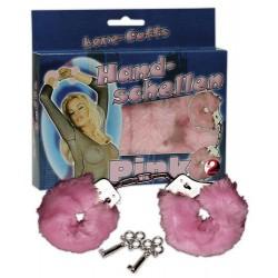 Kajdanki z futerkiem - Love-Cuffs różowe