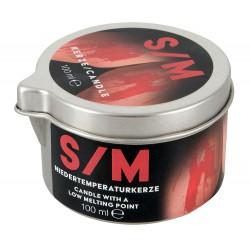 Świeca S/M w puszce czerwona 100 ml