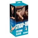 Silikonowy Strap-on +5cm