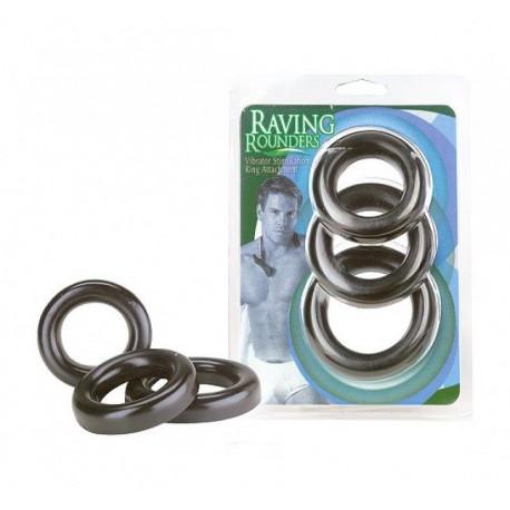 Raving Rounders zestaw 3 szt. Cockring 40,45 und 5