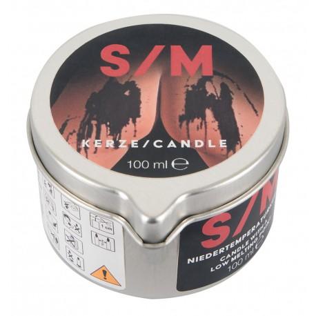 Świeca S/M w puszce czarna 100 ml