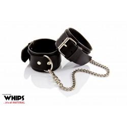 Kajdanki męskie na ręce soft skórzane Whips