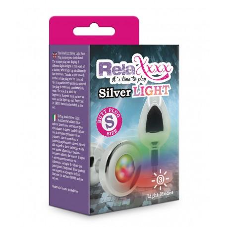 Korek RelaXxxx Silver Starter ze światełkiem S