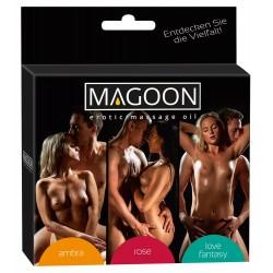 Magoon zestaw 3 szt. olejku do erotycznego masażu