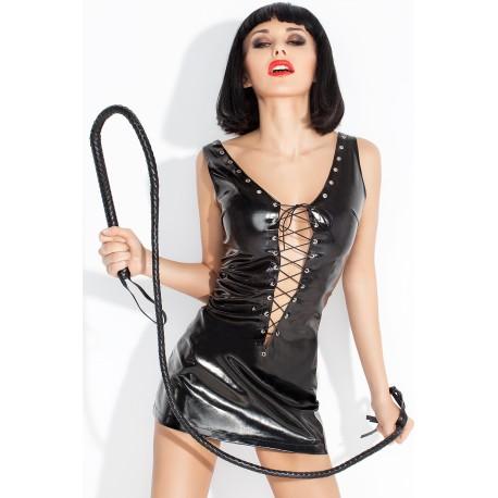 Seksowna lateksowa mini sukienka